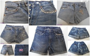 Reworked and customised denim shorts at Quirky Purple
