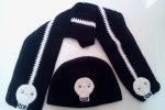 Skull hat and scarf