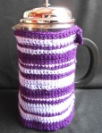 Quirky Purple Handmade Coffee Cosy