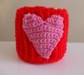 Pink mug cosy