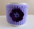 Purple flower mug cosy