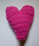 Pink padded heart