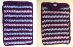 Purple stripes Kindle cover