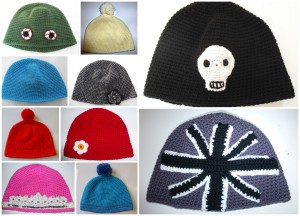 Quirky Purple Beanie Hats