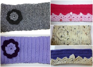 Quirky Purple Ear-warmers