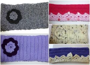 Quirky Purple Ear-warmers