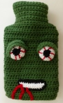 Quirky Purple zombie hot water bottle