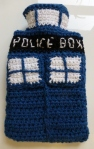 Quirky Purple TARDIS hot water bottle