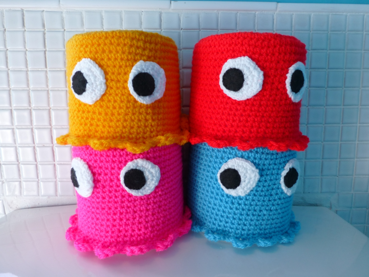 pacman toilet roll covers | Quirky Purple