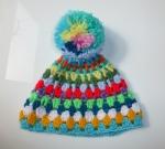 Granny chic baby hat