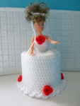 Bride crochet toilet roll doll