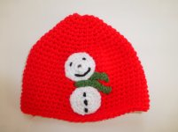 Toddler snowman hat